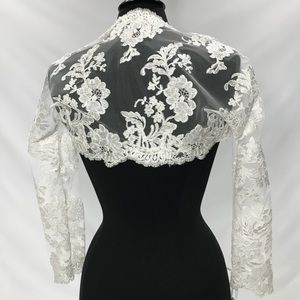 Dresses & Skirts - French lace bolero ivory bridal bolero shrug